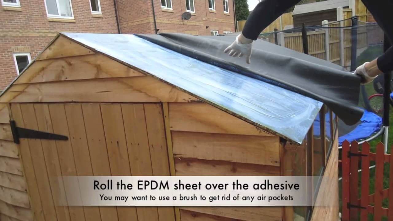 New Shed Roof Kits Firestone Rubber Cover System