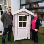 Our pink Wendy house is donated to a Morecambe Nursery