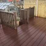Some recent composite decking jobs completed by the Team