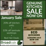 January Sale (Extended until end of Feb) on all kitchen units – up to 20% OFF