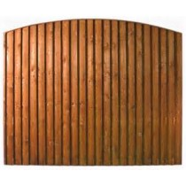 Arched top closeboarded fence panel
