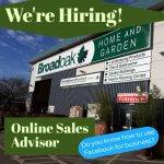 We're Hiring – Online Sales Advisor